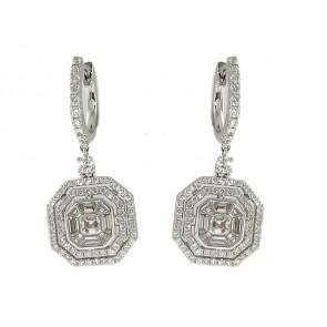18K Diamond Fashion Earrings, 1.87ct