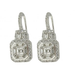 18K Diamond Fashion Earrings, 1.48ct