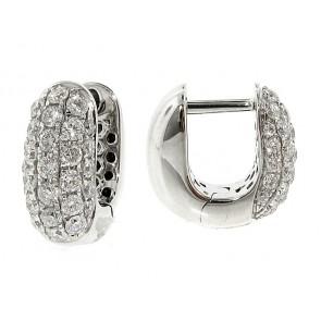 18k Diamond Huggy Earrings, 0.86ct