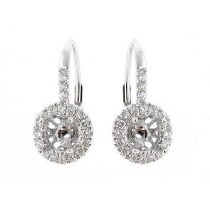 18K Diamond Semi-Mount Earrings