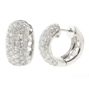 2.72ct Diamond Pave Huggy Hoop Earrings