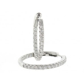 0.81ct Diamond Hoop Earrings