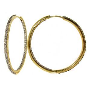 Diamond Hoop Earrings - Inside/Out Set