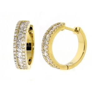 0.63ct Huggy Style Diamond Hoop Earrings