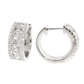 2.70ct Diamond Huggy Style Earrings