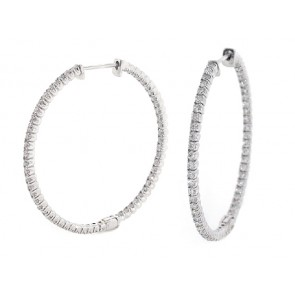 2.28ct Diamond Hoop Earrings