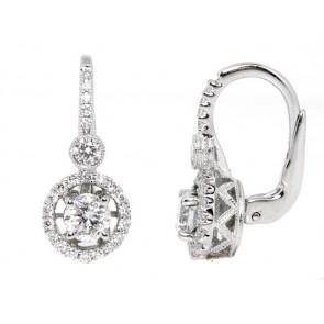 18K Diamond Halo Earrings