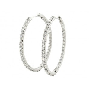 4.15ct Inside Out Diamond Hoop Earrings