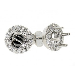 18K Halo Diamond Stud Earring