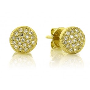 .11ct Round Diamond Pave Earrings
