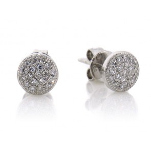 .11ct Round Pave Diamond Studs