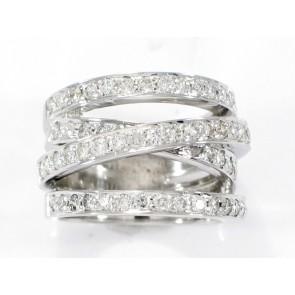 14K Diamond Plural-Band Ring