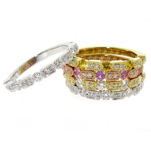 0.32ct Yellow Gold Diamond Stackable Band