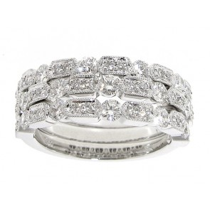 0.32ct White Gold Diamond Stackable Band