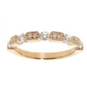 0.32ct Rose Gold Diamond Stackable Band