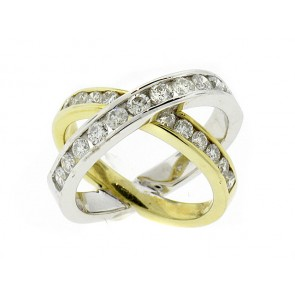 14K Duo-Band Diamond Ring