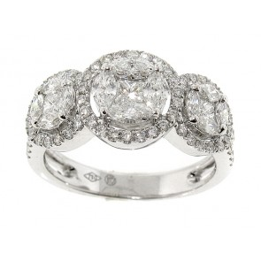 1.26CT Halo Cluster Diamond Ring