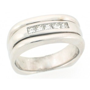.55ct Princess Diamond Mens Ring