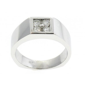 14K Mens Diamond Cluster Ring
