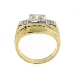 14K Vintage 60's Mens Diamond Ring