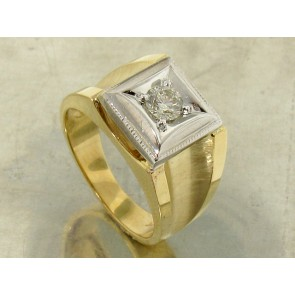 0.45ct Men's Retro Diamond Solitaire Ring