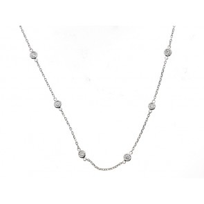 14K Diamond Chain Necklace, 1.15ct