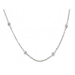 14K Diamond Chain Necklace, 0.90ct