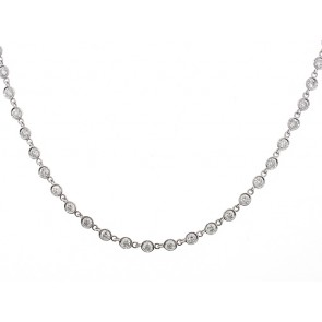 18K Diamond Chain, 7.64ct