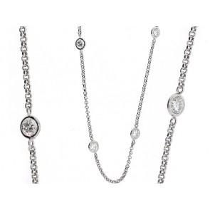 13 Round Bezel Set Diamond Chain