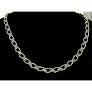 3.00ct Diamond Woven Link Necklace