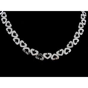 1.25ct Heart Motif Diamond Necklace