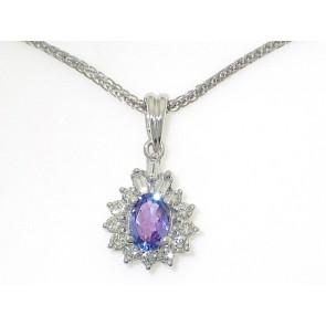 18K Tanzanite Diamond Pendant