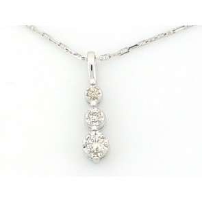 14K Diamond Droplet Pendant