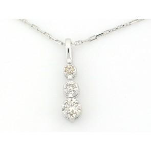 14K Diamond Droplet Pendant