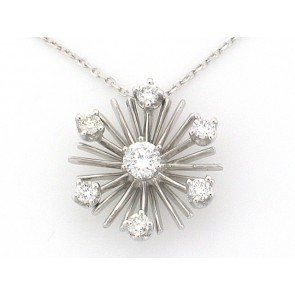 14K Diamond Snowflake Pendant