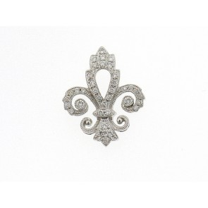 0.19ct Fleur De Lis Diamond Pendant