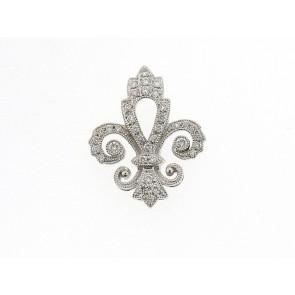 0.08ct Fleur De Lis Diamond Pendant