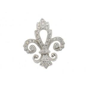 0.24ct Fleur De Lis Diamond Pendant
