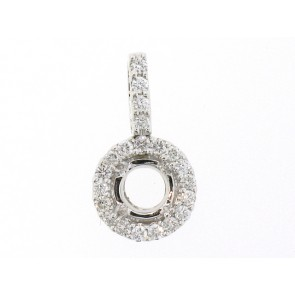 18K Diamond Semi-Mount Pendant