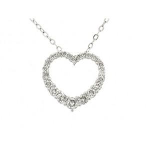 1/2ct Diamond Heart Pendant