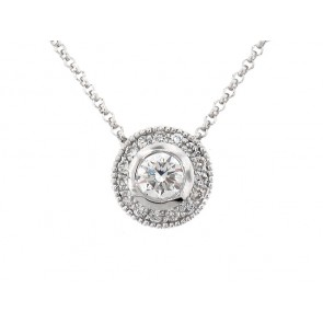 14K Diamond Drop Pendant