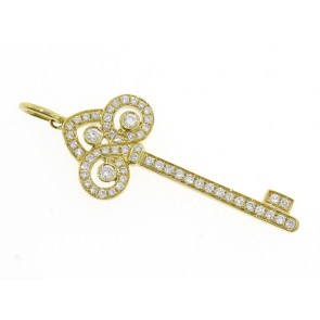 0.39ct Diamond Heart Key Pendant
