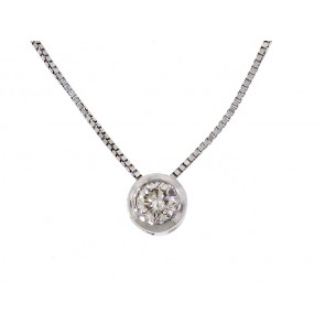 0.35ct Diamond Solitaire Drop Pendant