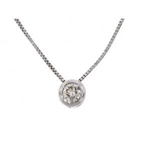 0.35ct Diamond Solitaire Drop Pendant