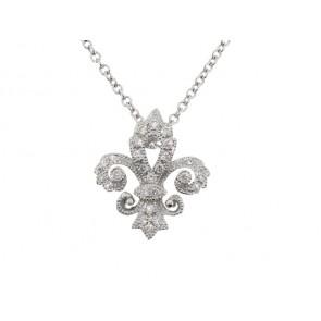 0.08ct Diamond Fleur de Lis Pendant