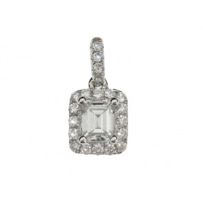 0.64ct Emerald Cut Diamond Pendant