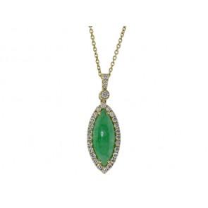 18K Jade and Diamond Pendant