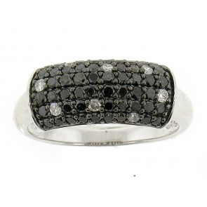 14K Black and White Diamond Ring