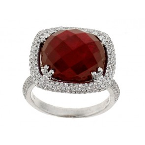 Diamond and Ruby Antique Style Ring