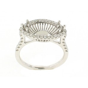Horizontal Marquise Semi-Mount Ring